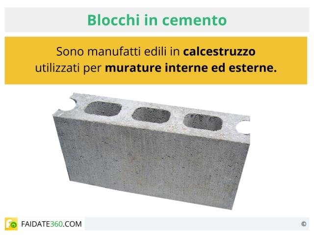 Blocchi in cemento per recinzioni prezzi