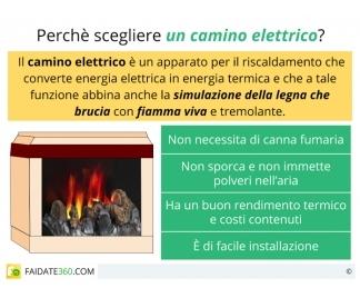 Caminetti elettrici con o senza fiamma caratteristiche for Caminetti finti elettrici