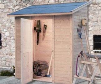 Casette porta attrezzi da giardino addossate terminali antivento per stufe a pellet - Porta attrezzi da giardino in legno ...