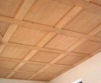 Controsoffitti in legno for Pannelli in polistirolo per soffitti