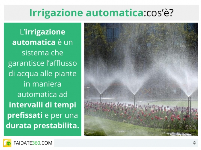 Irrigazione automatica: sistemi per terrazzo, balcone, giardino ecc