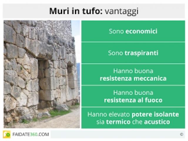 Muro in tufo caratteristiche