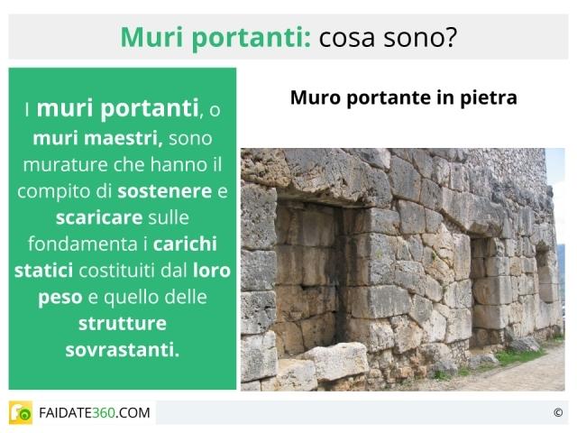 Muri portanti come riconoscerli caratteristiche tipi e - Tracce su muri portanti ...