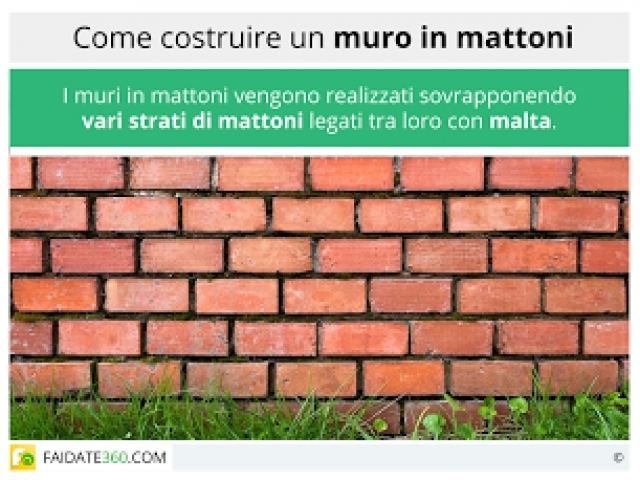 Come costruire un muro di mattoni materiali e posa in opera for Come costruire un garage in mattoni