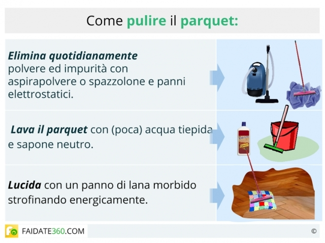 Pulizia parquet tecniche e prodotti naturali per pulire for Pulizia parquet
