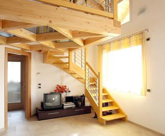 Soppalco in legno for Piccole planimetrie della casa con soppalco