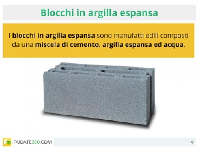 Blocchi di argilla espansa scheda tecnica usi e prezzi - Forati portanti ...