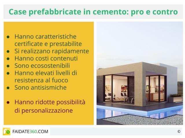 Case prefabbricate in cemento caratteristiche prezzi for Case prefabbricate in cemento prezzi