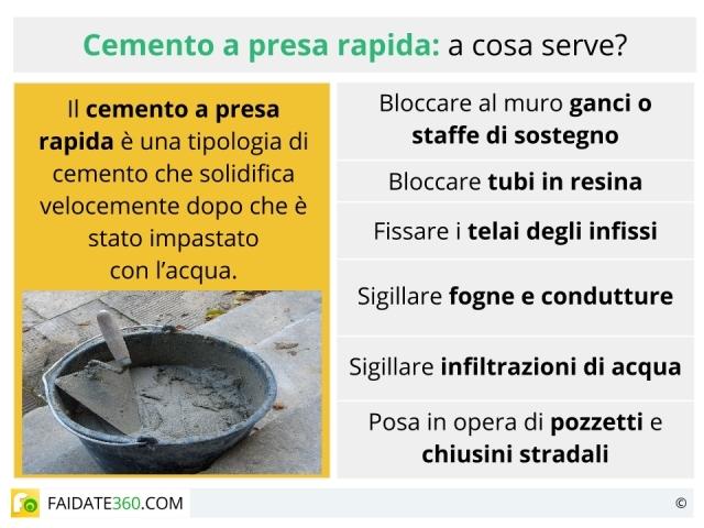 Cemento a presa rapida: composizione, scheda tecnica ed utilizzo