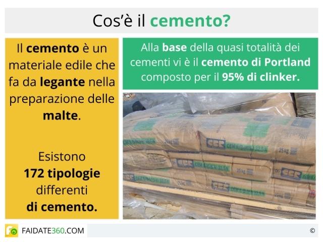 Cemento: composizione, tipi ed utilizzi