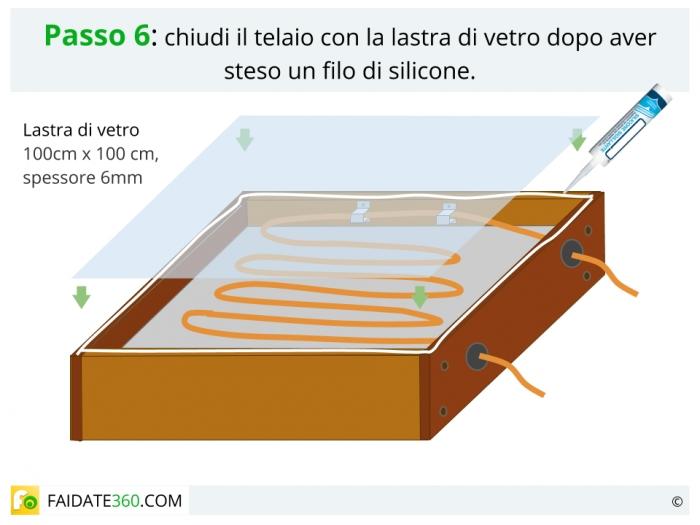 Costruire un pannello solare passo 6