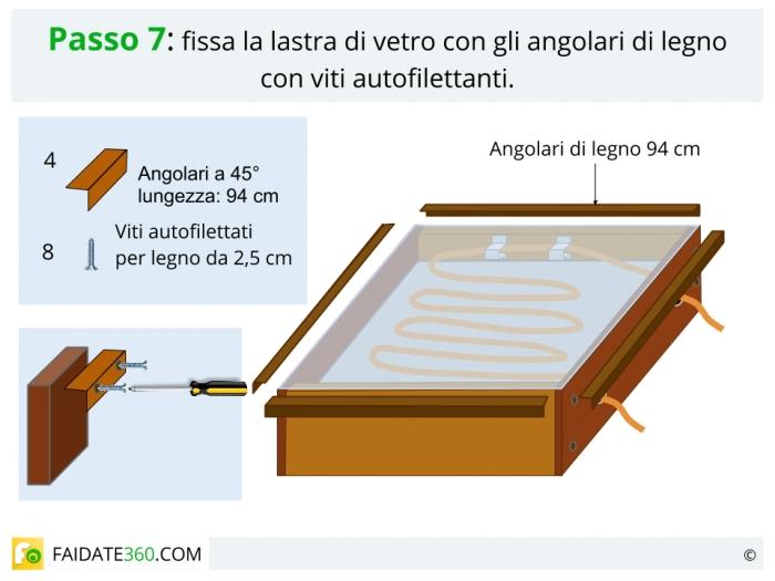 Costruire un pannello solare passo 7