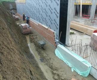 impermeabilizzazione di pareti controterra