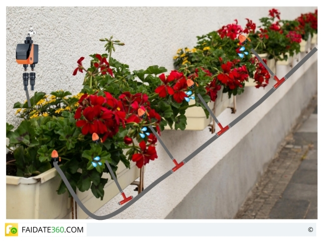 Impianto di irrigazione per balconi e terrazzi: tipi e progettazione ...