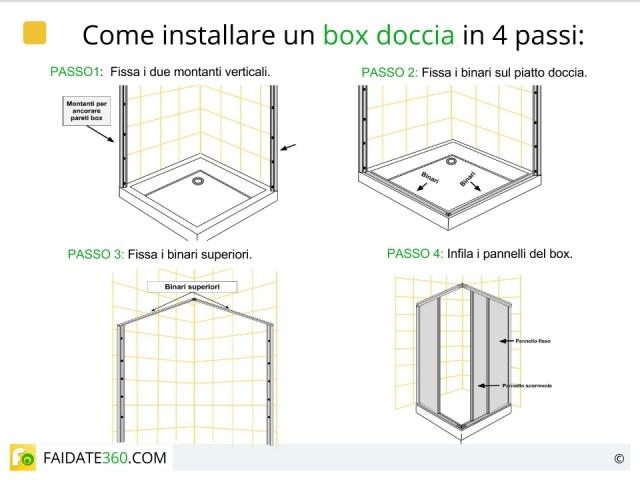 Installare una doccia: come montare piatto, box, colonna e sifone