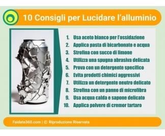 Lucidatura alluminio a specchio