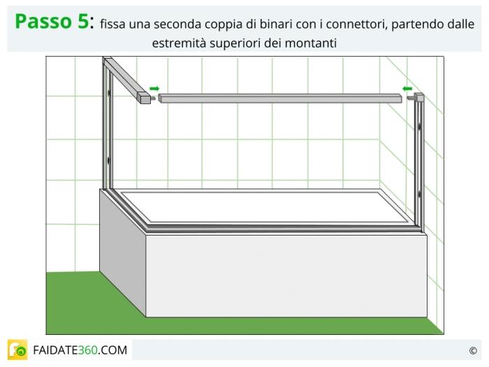 montaggio parete doccia a 5 pannelli passo 5