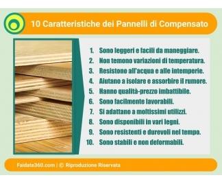 Pannelli compensato for Pannelli in legno lamellare prezzi