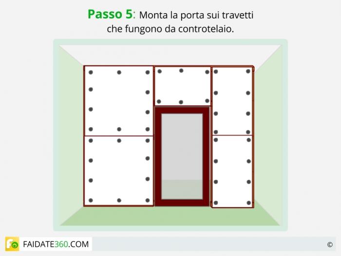 Parete divisoria scorrevole parete divisoria completa di - Porta su parete cartongesso ...
