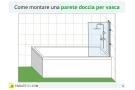 Parete doccia per vasca: tipologie, materiali, costi e montaggio fai da te