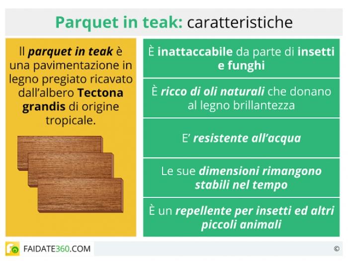 Parquet teak: caratteristiche, prezzi e tipi