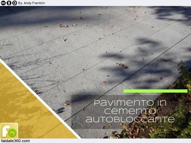Pavimenti in cemento per interni e per esterni for Pavimento in autobloccanti