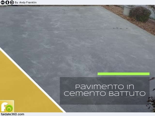 Pavimenti in cemento per interni e per esterni for Aggiungendo spazio sopra il costo del garage