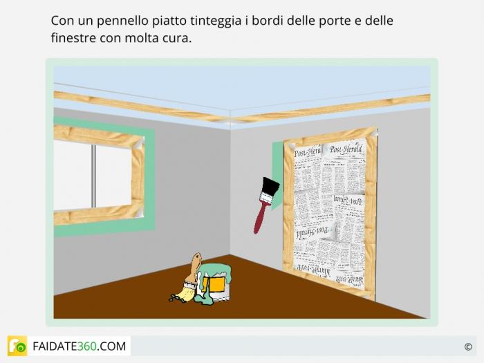 Tinteggiatura pareti passo sette