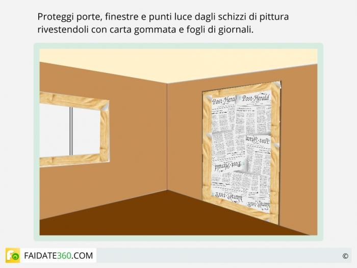 Tinteggiatura pareti-passo uno